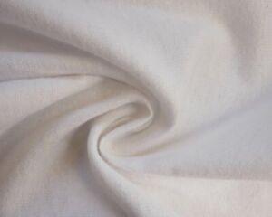 White Plain Winceyette Soft Flannelette 100% Cotton Brushed Dress Fabric