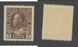 MNH Canada 3 Cent KGV Admiral Perf 12 Coil #134 (Lot #20186)