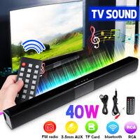 Soundbar Con 4 Altoparlanti Suono Speaker bluetooth USB TV Senza Fili Stereo