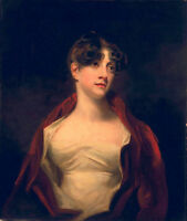 Excellent Oil painting female portrait young lady in red cloth hand painted art
