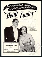 1949 Winifred Heidt Eugene Conley photo singing recital tour booking print ad