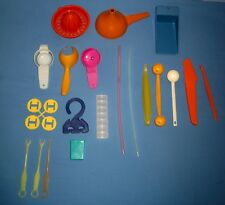 VTG Lot 20 Tupperware Gadget Pill Box /Sock Sorter/S&P/OJ Squeezer/Scoop/Funnel!