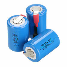 Popular 3Pcs NiCd 4/5 SubC Sub C 1.2V 2200mAh Rechargeable Battery with Tab Blue