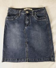 Christoher Blue Stretch Denim Blue Jean Skirt Size 8