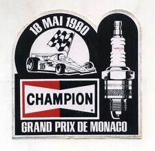 Adesivo Formula 1 GRAND PRIX DE MONACO Montecarlo 1980 CHAMPION F1 sticker