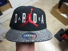 Nike (Air Jordan) Youth (Adjustable) Snapback Hat Nwt $25 Black W/Cool Bill