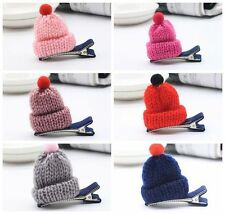 10pcs/lot Pet dogs hair clip puppy grooming cat knitted Hat hairpin bows topknot