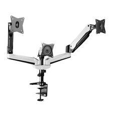 Triple Monitor Mount Desk Stand Adjustable Gas Spring Arm Tilt Swivel Rotate