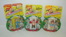 Lot 3 vintage Alvin The Chipmunks figures Simon Brittany on card boxing baseball