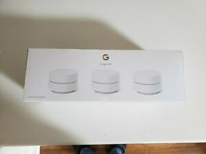 Google WiFi 3 Pack AC1200 Mbps 2 Port Wireless Router - BarelyUsed
