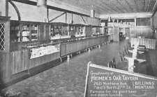 Billings Montana Heimers Oak Tavern Interior Antique Postcard K78134
