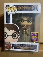 Funko Pop! Harry Potter On Broom Summer Convention 2017 Snitch Quidditch New