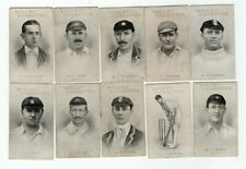 Wills Australian & English Cricketers 1911 - 1912 Total of 18 Cards.