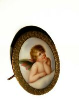 ANTIQUE SIGNED MINIATURE PORCELAIN PAINTING