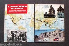 BF50 - Clipping-Ritaglio -1974- IL GIRO DEL MONDO IN CARAVAN , NOTIZIE