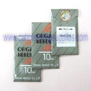 30 ORGAN HAX130EBBR Embroidery Needles Brother PR-600