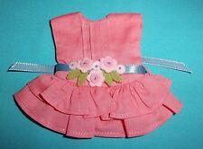 "NEW BONEKA CORAL & FELT FLOWER DRESS SIZE 18 FITS KISH RILEY WORLD 7.5"" DOLLS"