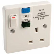 Europa Components RCD13AP1GS 13A Single Switch Socket RCD Plastic