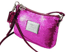 NEW COACH PINK SEQUIN POPPY DISCO BAG 44925 SWINGPACK/SHOULDER/CROSS BODY/PURSE