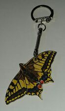Wooden Swallowtail Butterfly key ring keychain Hand made in UK New