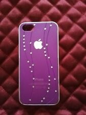 iPhone 5 and iPhone 5 S Purple Bling Diamond Hard Back Case Cover