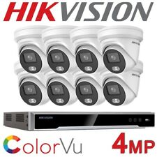 HIKVISION 4 CHANNEL IP COLORVU FULL COLOUR KIT IP NVR IP POE CCTV SYSTEM UHD 4MP