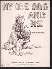 My Ole Dog And Me 1937 Sheet Music