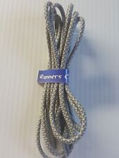 ROUND REFLECTIVE SHOE LACES approx 140cm - Light Grey - 205 REF