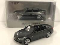 Minichamps 870027230 BMW M4 Cabrio 2015 Dark Grey 1:87 Scale