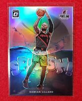 DAMIAN LILLARD - 2019-20 Donruss Optic Silver Holo Prizm SP Splash [B6428]
