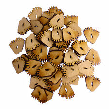 50 x Wooden Laser Cut MDF shapes Craft Blank Embellishments - Baby Feet 20mm