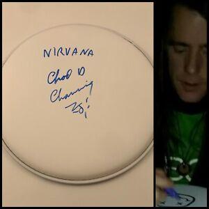 "GFA Nirvana Original Drummer CHAD CHANNING Signed New 10"" Drumhead COA"