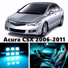 10pcs ICE Blue LED Light Interior Package Kit for Acura CSX 2006-2011