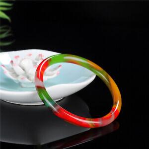 Handmade 100% Natural Gem HQ Multi Colour JADE Jadeite Bangle Bracelet UK