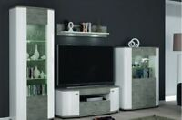 Living Room High Gloss Storage Furniture Tall Unit Modern TV Unit Cabinet CURVE2