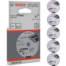 BOSCH 5 Stück Trennscheibe Inox 76x1x10 mm für Metall Edelstahl Stahl Alu Blech