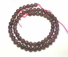 "16"" NATURAL Red Rutilated Strawberry Quartz Round ~68 Beads 6mm K7950"