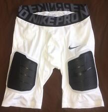 $70 Nwt Nike Pro Hyperstrong Compression Football Shorts L Padded White Black