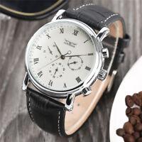 JARAGAR Black/White Roman Numbers Men Business Automatic Mechanical Wrist Watch