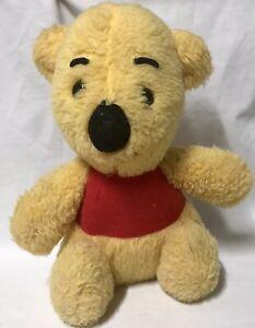 "Vtg Winnie The Pooh Sears Gund Plush 11"" Walt Disney Stuffed Animal Bear Yellow"