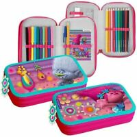 TROLLS Double Tier Filled Back to School Pencil Case & Accessories