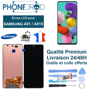 Écran complet LCD + Tactile Samsung A51 (A515) OLED + Outils, stock FR