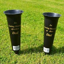 Angraves In Loving Memory Spiked Memorial Grave Flower Vases, Set of 2