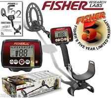 "Fisher F22 Weatherproof Metal Detector with 9"" Waterproof Coil & 5 Year Warranty"