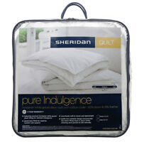 Sheridan Pure Indulgence Hungarian Goose Down Quilt/Doona/Duvet Queen/King NEW