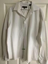 Ben Sherman White Blue Gray Stripe Long Sleeve Shirt Men's XL -EC1