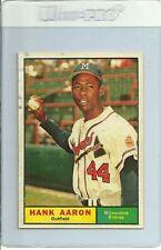 1961 Topps Baseball #415 Hank Aaron Braves Nm