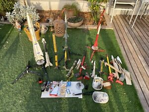 Huge Vintage Lot of Various Estes & MPC Model Rocket Fuel & Accessories
