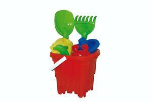 Kids Plastic Castle Mould Beach Bucket Sandbox Spade Summer Outdoor Toy Set