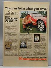 Vintage Magazine Ad Print Design Advertising Bridgestone Tires Lee Trevino